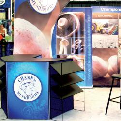 Champ's Mushrooms tradeshow booth