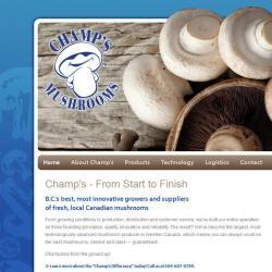 Champ's Mushrooms website
