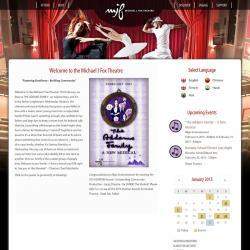 Michael J. Fox Theatre responsive website
