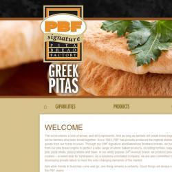 Pita Bread Factory website