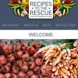 Recipes to the Rescue website